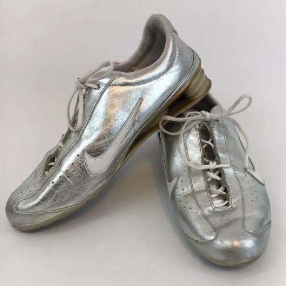 meilleure sélection 52d43 91bac Nike The Rival Shox Womens 6.5 Silver Running Shoe
